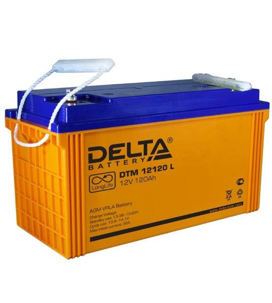 Аккумуляторная батарея Delta DTM 12120 L AGM - фото