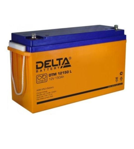 Аккумуляторная батарея Delta DTM 12150 L AGM - фото