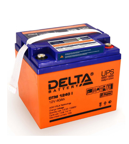 Аккумуляторная батарея Delta DTM 1240 I AGM - фото