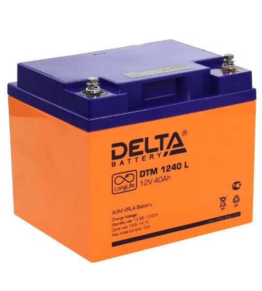 Аккумуляторная батарея Delta DTM 1240 L AGM - фото