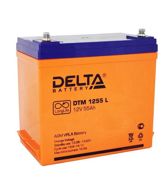Аккумуляторная батарея Delta DTM 1255 L AGM - фото