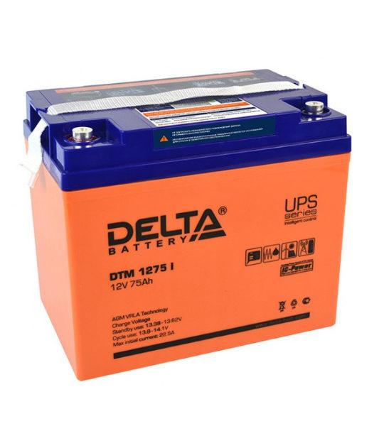 Аккумуляторная батарея Delta DTM 1275 I AGM - фото