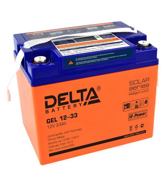 Аккумуляторная батарея Delta GEL 12- 33 - фото