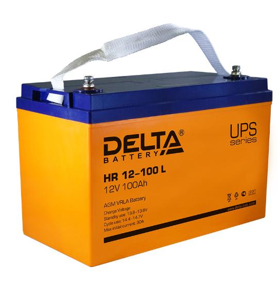 Аккумуляторная батарея Delta HR 12100 L AGM - фото