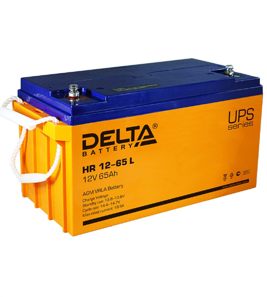 Аккумуляторная батарея Delta HR 1265 L AGM - фото