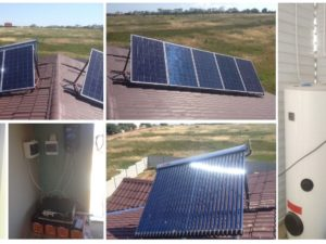 Комбинированная солнечная система для частного дома