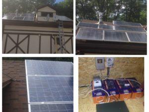 Круглогодичная автономная солнечная электростанция на 2,5кВт*ч