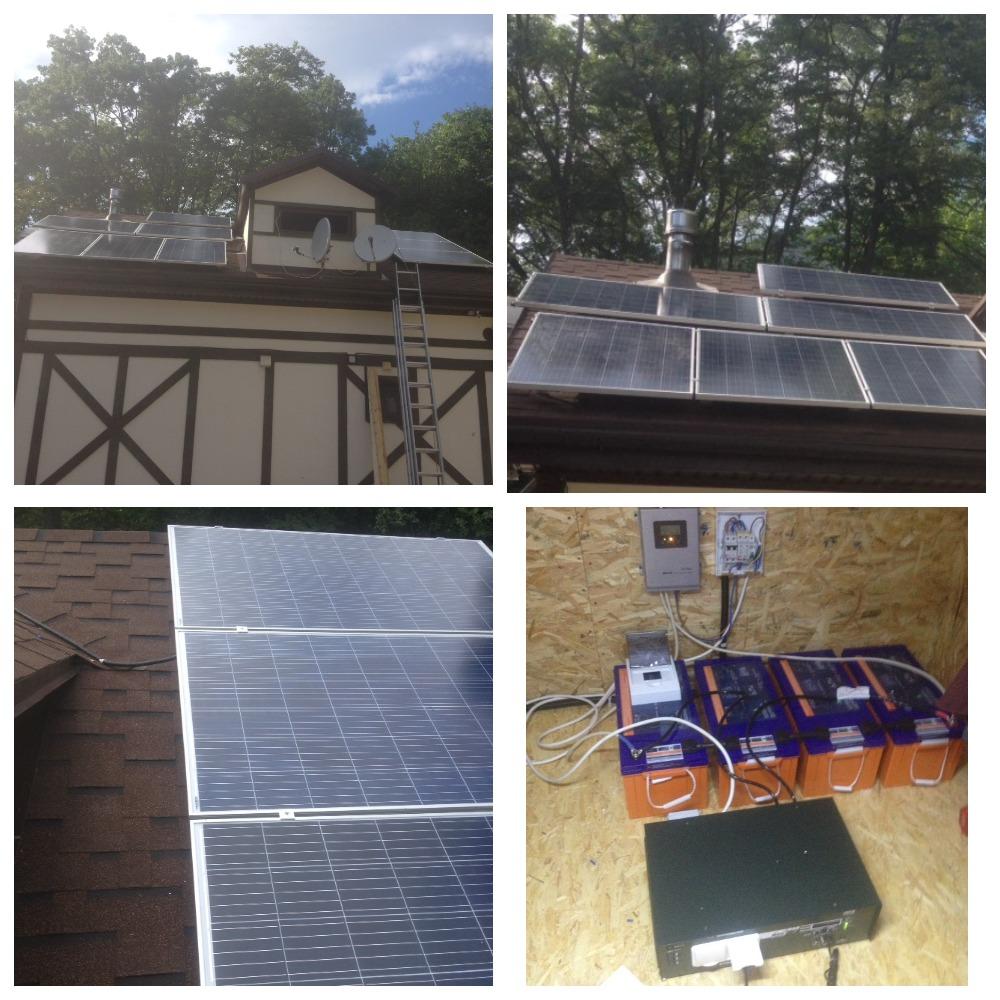 Круглогодичная автономная солнечная электростанция на 2,5 кВтч фото 7