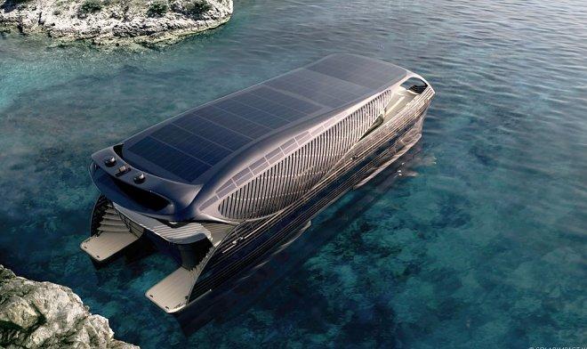 Первая в мире солнечная яхта SolarImpact может путешествовать по миру бесконечно - фото