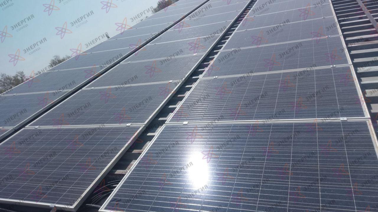 Сетевая солнечная станция 79кВт в г Севастополь - фото (11)