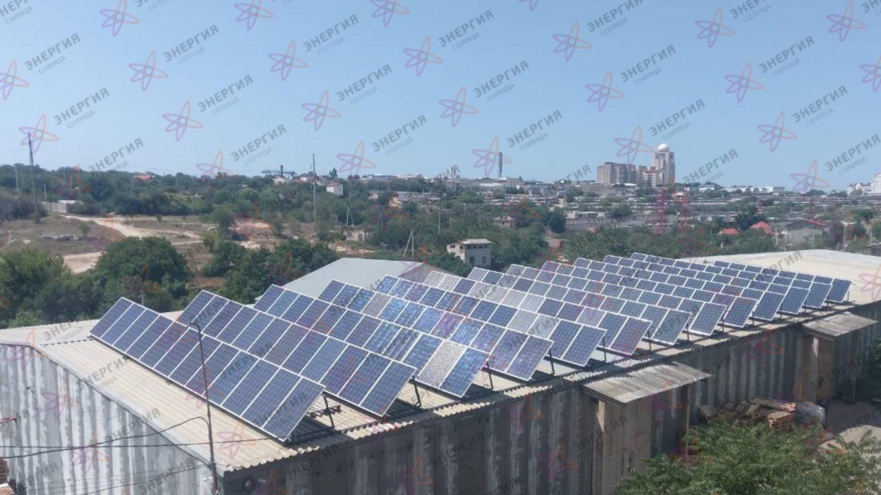 Сетевая солнечная станция 79кВт в г Севастополь фото (2)