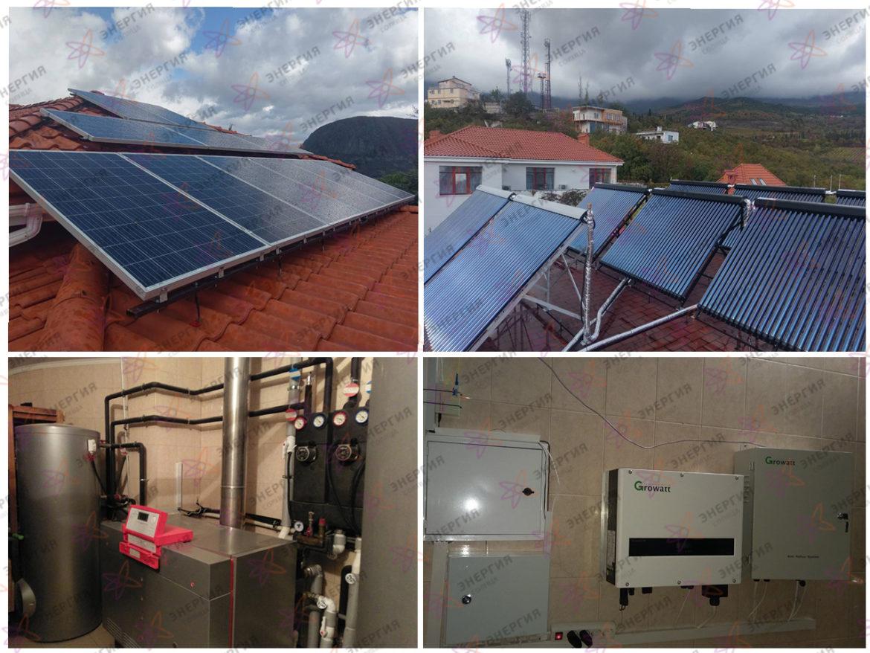 Гелиосистема и сетевая электростанция в пгт. Гурзуф фото (1)