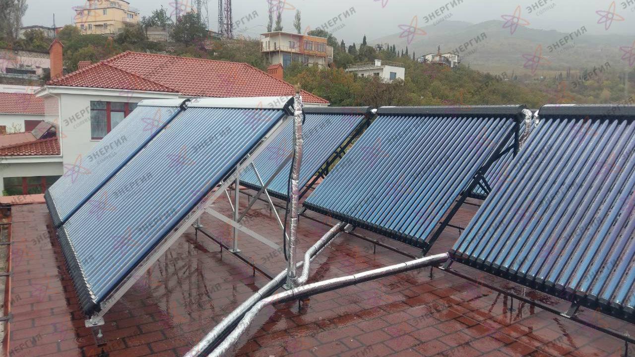 Гелиосистема и сетевая электростанция в пгт. Гурзуф фото (12)