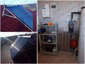 Автономная система горячего водоснабжения на 300 л.