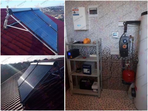 Автономная система горячего водоснабжения на 300 л. фото