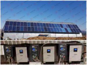 Автономная солнечная электростанция, с установленной мощностью солнечных панелей 15,5 кВт*ч