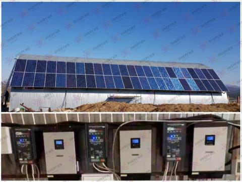 Автономная солнечная электростанция, с установленной мощностью солнечных панелей 15,5 кВтч фото (1)