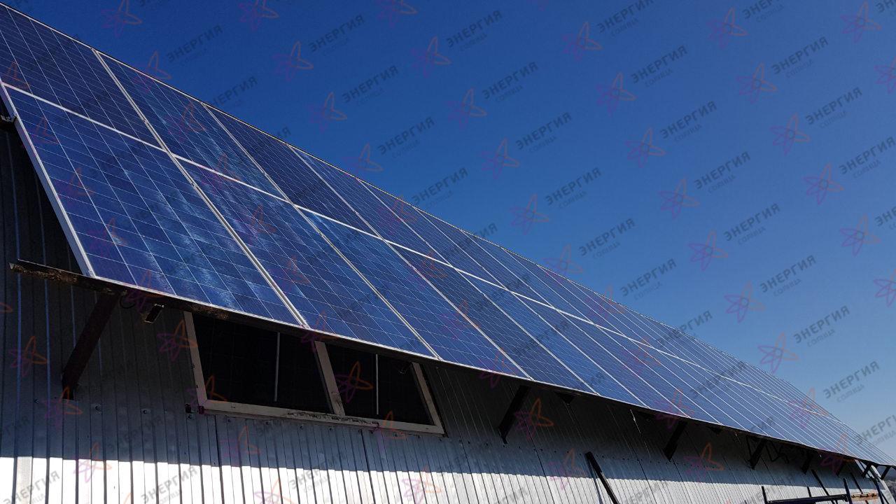 Автономная солнечная электростанция, с установленной мощностью солнечных панелей 15,5 кВтч фото (3)