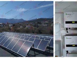 Установка сетевой солнечной электростанция на 20 кВт*ч