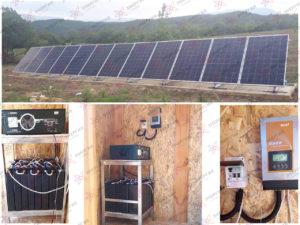 Автономная солнечная электростанция на 3 кВт