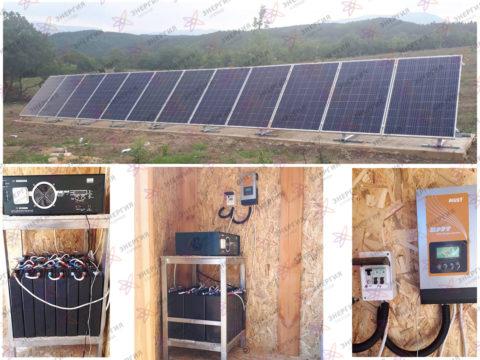 Автономная солнечная электростанция на 3 кВт - фото