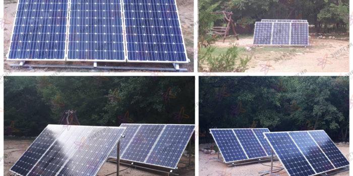 Автономная солнечная электростанция в Крымском заповеднике.