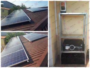Гибридная солнечная электростанция для резервирования и экономии.